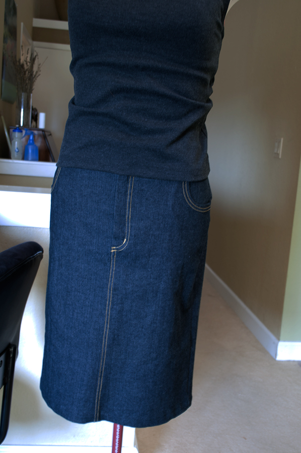 jean skirt pattern and